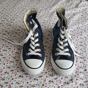 Converse Shoes - Hand painted GALAXY CONVERSE SNEAKERS